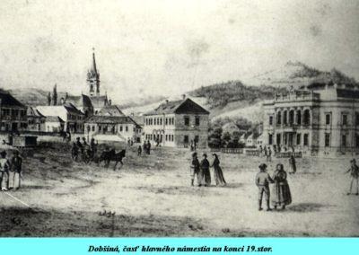 Dobsina főtere a 19. század végén