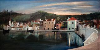 Traui látkép naplemente idején. Csontváry Kosztka Tivadar festménye